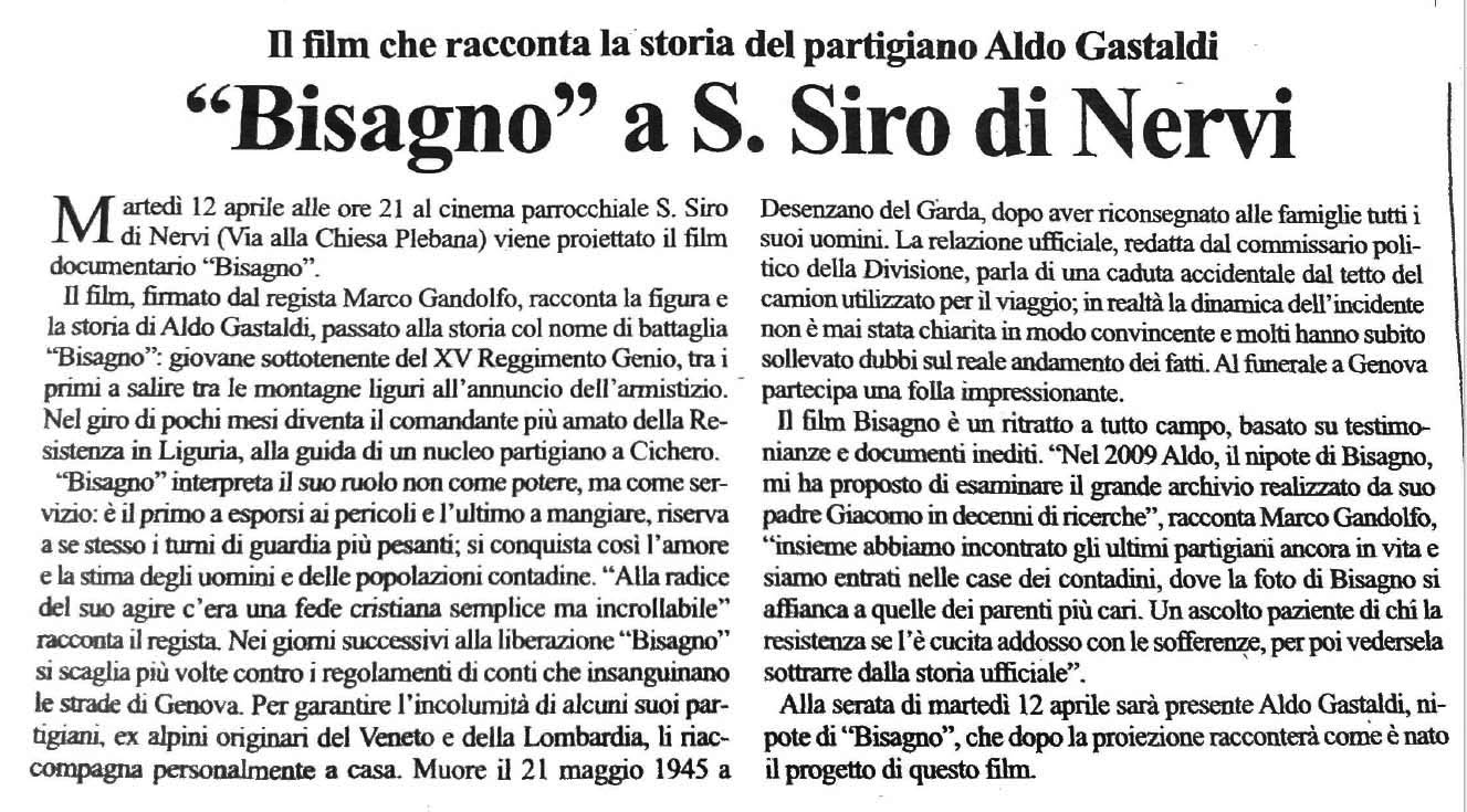 """""""Bisagno"""" a S. SIro di Nervi"""